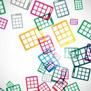 Abstract background: calculator Stock Illustration