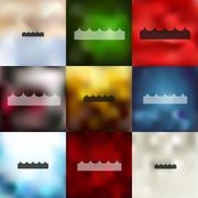 Wave icon on blurred background Stock Illustration