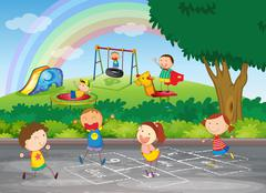 A group of happy children Stock Illustration