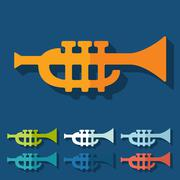 Flat design: trumpet Stock Illustration