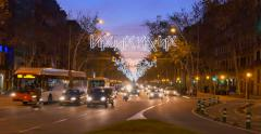 Gran Via de les Corts Catalanes, also Gran Via Stock Footage