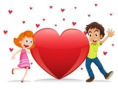 Lovers Stock Illustration