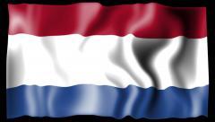 Flag of Netherland Stock Footage