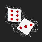 Stock Illustration of Drawing business formulas: dice