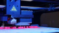 3D printing in process. Advanced technology in use. Stock Footage