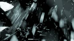 Glass cracked in slow motion with motion blur. Alpha Stock Footage