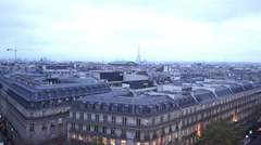 Typical aerial view of the City of Paris with Eiffel tower - stock footage