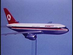 ANSETT BOEING 737.mp4 Stock Footage