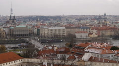 The city of Prague from the Castle - stock footage