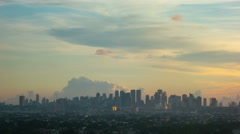 Philippines Manila skyline sunset time lapse 4k Stock Footage