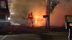 Car fire Stock Footage
