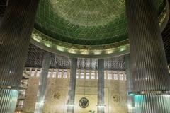 Inside Jakarta mosque Stock Photos