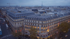 The city of Paris - view from a rooftop - stock footage