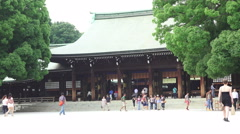 Stock Video Footage of Meiji Jingu Shrine On Bright Day 02
