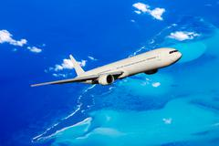 Aircraft in flight - stock photo