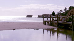 Algarve - St Eulalia Beach Walkway C Stock Footage