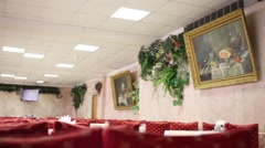 Canteen in Rehabilitation center Bugorok located in Domodedovo Stock Footage