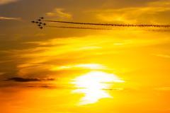 Air acrobatics group - stock photo
