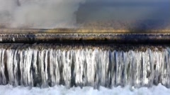 Canal Overflow Stock Footage