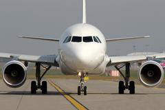 Aircraft on taxiway - stock photo