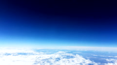 Cloud sky view from above 13 - stock footage