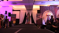 Indian fashion parade.Brides and wedding gowns Stock Footage
