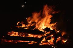 Burning Magician - stock photo