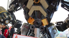 Transformer on Geek Picnic in Moscow, Russia. Stock Footage