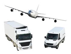 Transport - plane, van and truck Kuvituskuvat