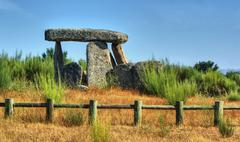 Dolmen Pedra da Orca em Gouveia - stock photo