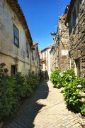 Jewish quarter of Trancoso - stock photo