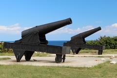 Two cannon Stock Photos