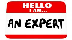 Hello I Am An Expert Nametag Professional Experience Marketing Yourself Stock Footage