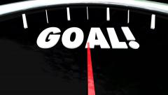 Goal Speedometer Plan Practice Perform Achieve Mission Objective Stock Footage