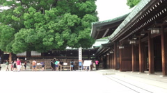 Stock Video Footage of Meiji Jingu Shrine On Bright Day 03