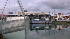 Danish fishing boat Stock Footage