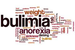 Bulimia word cloud Stock Illustration