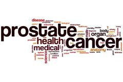 Prostate cancer word cloud - stock illustration