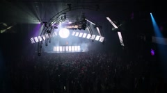 Laser show and people on Global Clubbing Mind Games Stock Footage
