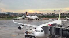 Gru Airport in Sao Paulo, Brazil. Stock Footage