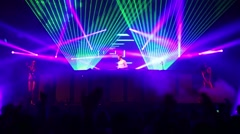 DJ Basto and laser show on Global Clubbing Mind Games Stock Footage