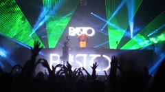 DJ Basto and crowd with hands composed in shape of heart Stock Footage