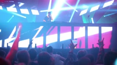 DJ R3HAB on stage and crowd dance at Global Clubbing Mind Games Stock Footage