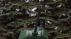 Vertical pan of The original tank T-34 of the Second World War Stock Footage