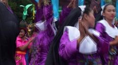 Stock Video Footage of Nun costume Carnival Dancer