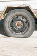 Flat Tyre Stock Photos