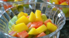 Fruit Bowl Rack Focus Stock Footage