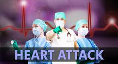 Doctors heart attack Stock Photos