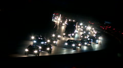 Highway at night with traffic Stock Footage