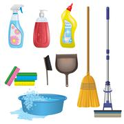 Cleaning Icons Set - stock illustration
